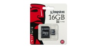 KINGSTON Micro SDHC 16 GB Klasse 4 + SD Adapter