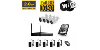 WiFi Kamera Set mit 4 WiFi IP Full HD Kameras