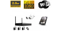 Wifi Kamera Set 2 IP Full HD Kameras 2Mpx IR 25M Longse
