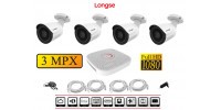 4 IP Kamera Set  - 2MP, IR 20m SONY